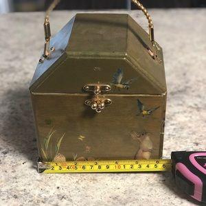 Vintage Decoupage wooden purse